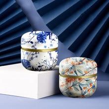Çay kapları mum kutuları şeker aperatifler küçük yuvarlak kutular Mini taşınabilir teneke kutular ambalaj