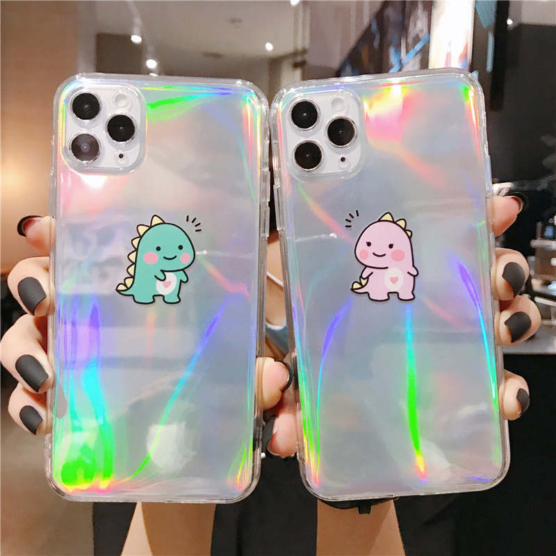 Laser Cartoon Dinosaur Phone Case For Huawei Nova 5T 3 4 5 5I P30 Lite P40 Pro Mate 20 30 Honor 20 9X Pro 30X Cover Nova 7 6 Se