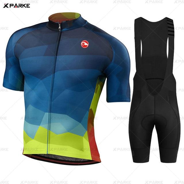 Conjunto camisa da bicicleta de estrada roupas ciclismo verão mtb roupas da equipe dos homens manga curta uniforme triathlon skinsuit ropa hombre 2020 4