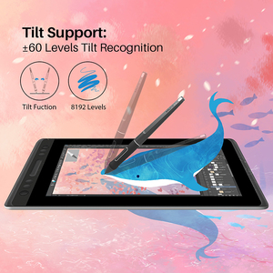 Image 4 - HUION KAMVAS Pro 13 GT 133 Pen Display Digital Graphic Tablet Monitor Battery Free 8192 levels Pen Drawing Monitor Tilt Function