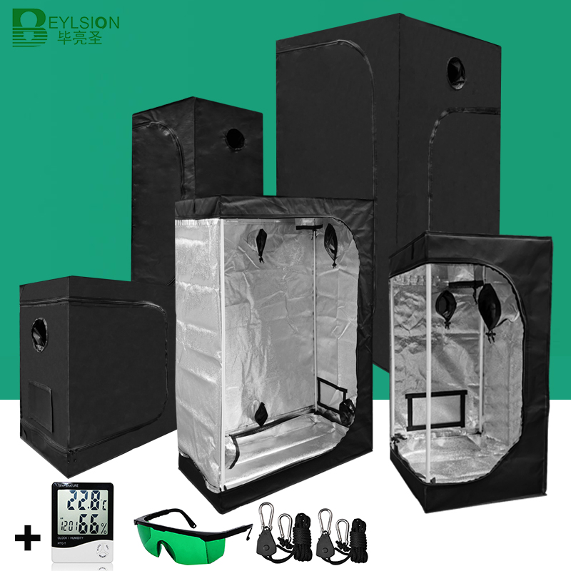 BEYLSION Grow Tent Hydroponics Tent Grow Light Parts Grow Box Grow Tent Mylar For Growing Greenhouse Grow Plant  Rope Ratchet