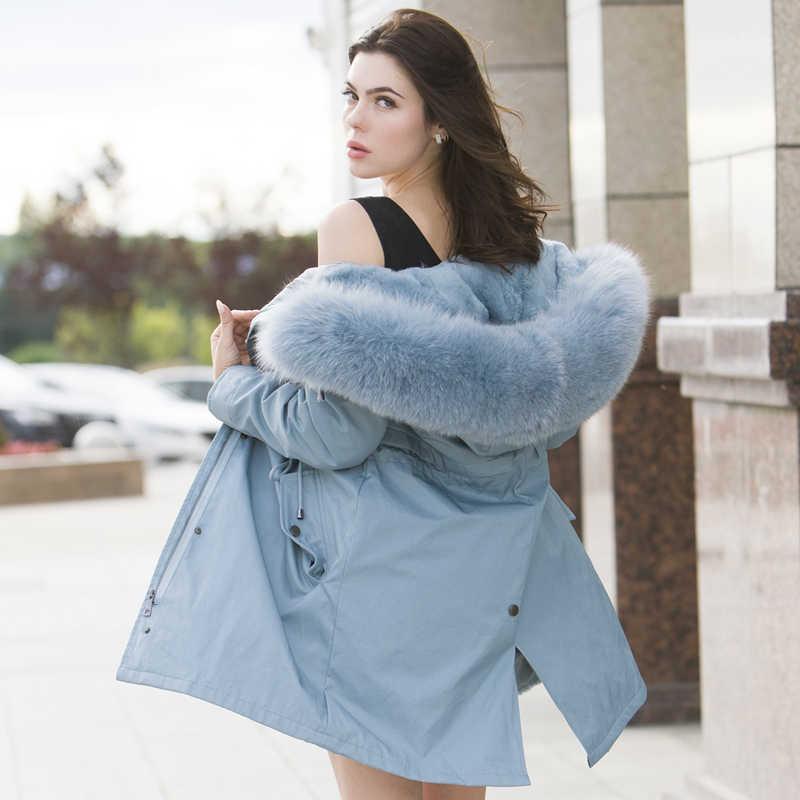 ผู้หญิงฤดูหนาวขนาดใหญ่ขนสัตว์ hooded Parkas 2020 สีขาวผู้หญิงฤดูหนาวเสื้อขนสัตว์ธรรมชาติเรียงรายหนาเสื้อผู้หญิง OVERSIZE