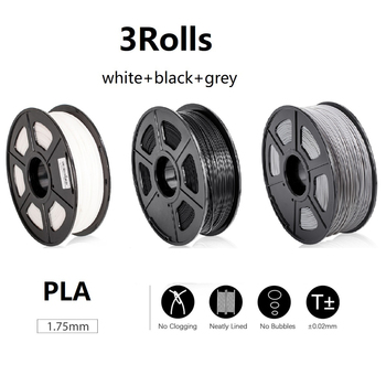 цена на 3D Filament 2roll of 1kg Wholesale 1.75mm PLA Filaments For 3D Printer &3D Printing Pen Fast Ship From US Warehouse 3d пластик