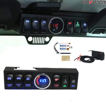 Switch-Panel Wrangler Control-Headlights Back-Light Rocker Ce with Blue And Bar 6pod