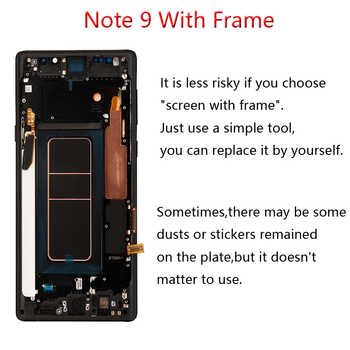 ORIGINAL AMOLED 6.4\'\' LCD with frame for SAMSUNG GALAXY Note 9 LCD Note9 Lcd Display N960D N960F LCD Touch Screen