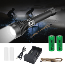 2500 Lumens XLamp XHP90 Most Powerful LED Flashlight USB Zoom Torch 26650 Rechargeable Battery