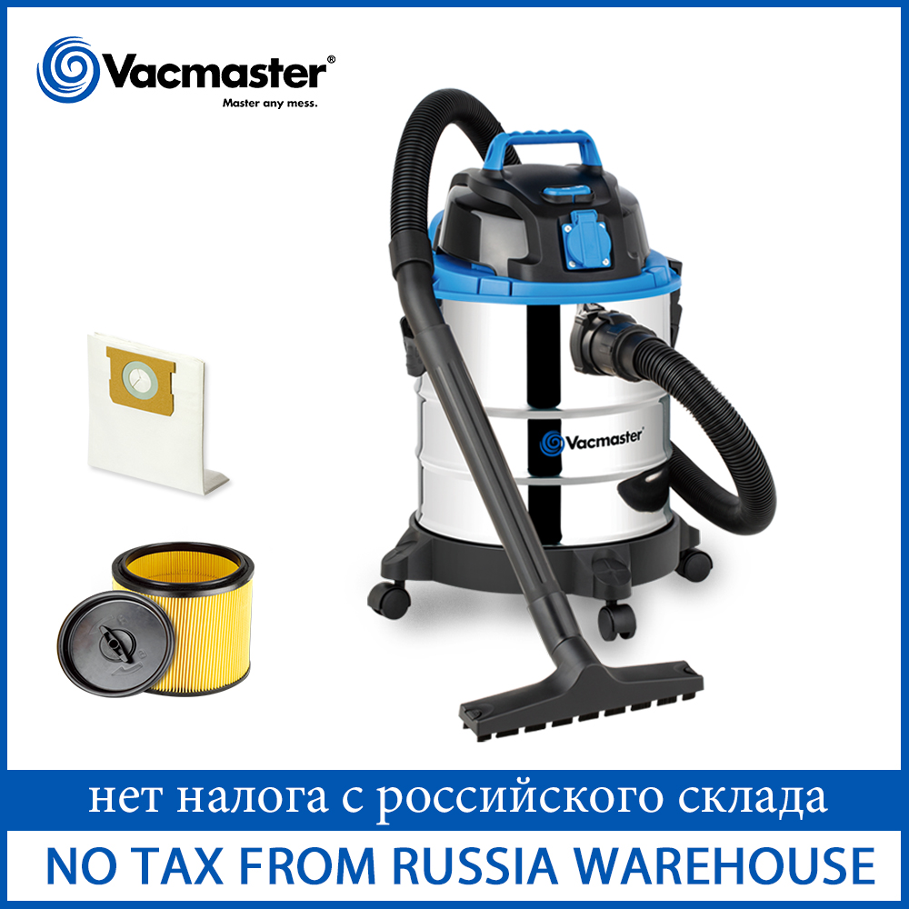 Vacmaster 1250W Industrial Vacuum Cleaner For Factory Workshop 20L Wet Dry Vacuum Cleaner For Garden Floor