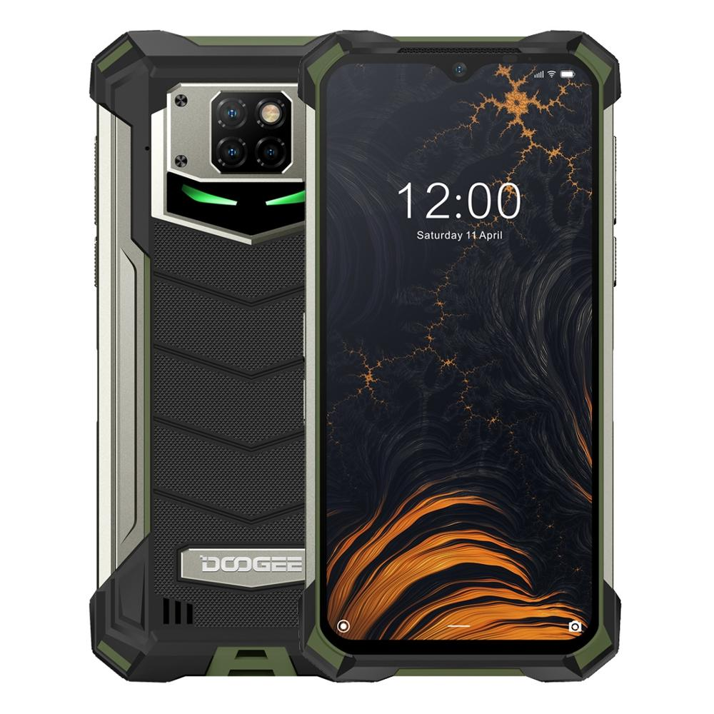 """DOOGEE S88 Pro 128GB ROM 6GB RAM IP68/IP69K Rugged Phone Android 10 Helio P70 Octa-Core 6.3"""" Display 21MP Cams Wireless Charge"""