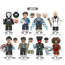 X0270 Single Sale Building Blocks Super Heroes Crossbone Peter Parker Quicksilver Kingpin Tony Stark Figures For Children Toys