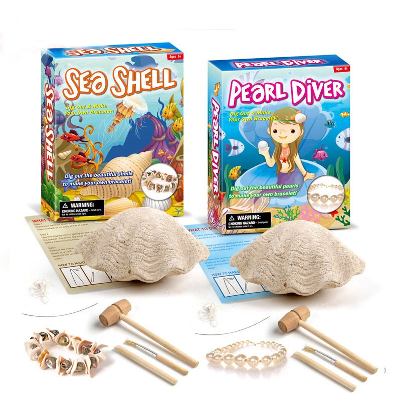 Hand Make Dig It Out Real Pearl How To Make Own Bracelet Kit Pearl Diver Dig Excavation Kit Stuff Toy For Kids Assort Package