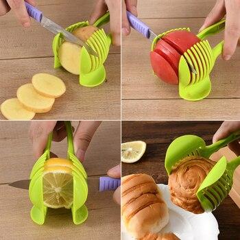 VOGVIGO Handheld Kitchenware Tomato Slicer Bread Clip Fruit and Vegetable Cut Potato Apple Creative Gadget Kitchen Accessories 5