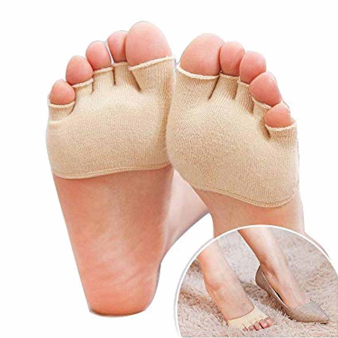 Yarım palmiye beş parmak çorap bayanlar pamuk görünmez yaz ince yarım klip yüksek topuk nefes ön ayak beş parmak çorap kayma