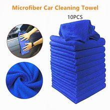 10 Pçs/set Toalhas de Microfibra de Limpeza Do Carro Limpeza Doméstica Toalha Pequena Brisa Pano Toalhas de Lavagem de Vidro Automóvel