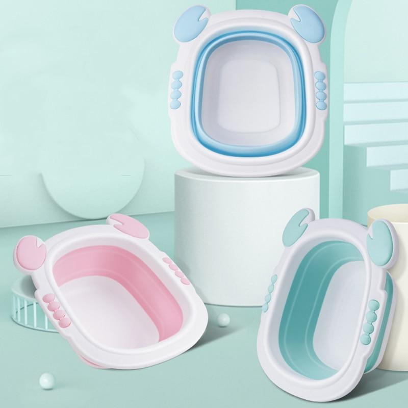 infantil lavatorio dobravel bacia portatil dobravel banheira de lavagem rosto pe banheiras crianca dos desenhos animados