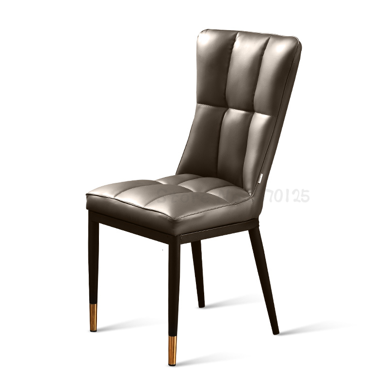 Simple Fashion Light Luxury Chair After Modern Dining Chair Family Back Stool Restaurant Leather Chair Net Red Nordic Desk Chair
