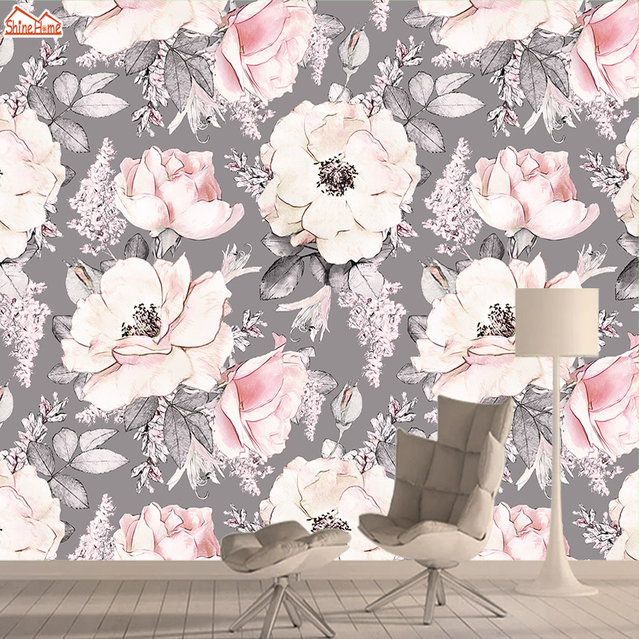3d Photo Wallpaper Mural Wallpapers For Living Room Wall Paper Papers Home Decor Vintage Flower Self Adhesive Walls Murals Rolls