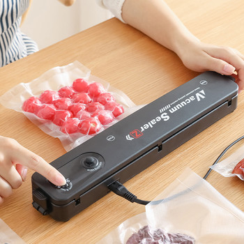 Kitchen Vacuum Food Sealer 220V/110V Automatic Commercial Household Food Vacuum Sealer Packaging Machine Include 10Pcs Bags home vacuum sealer automatic electric vacuum food sealer packaging machine 220v 110v electric kitchen vacuums sealing machine