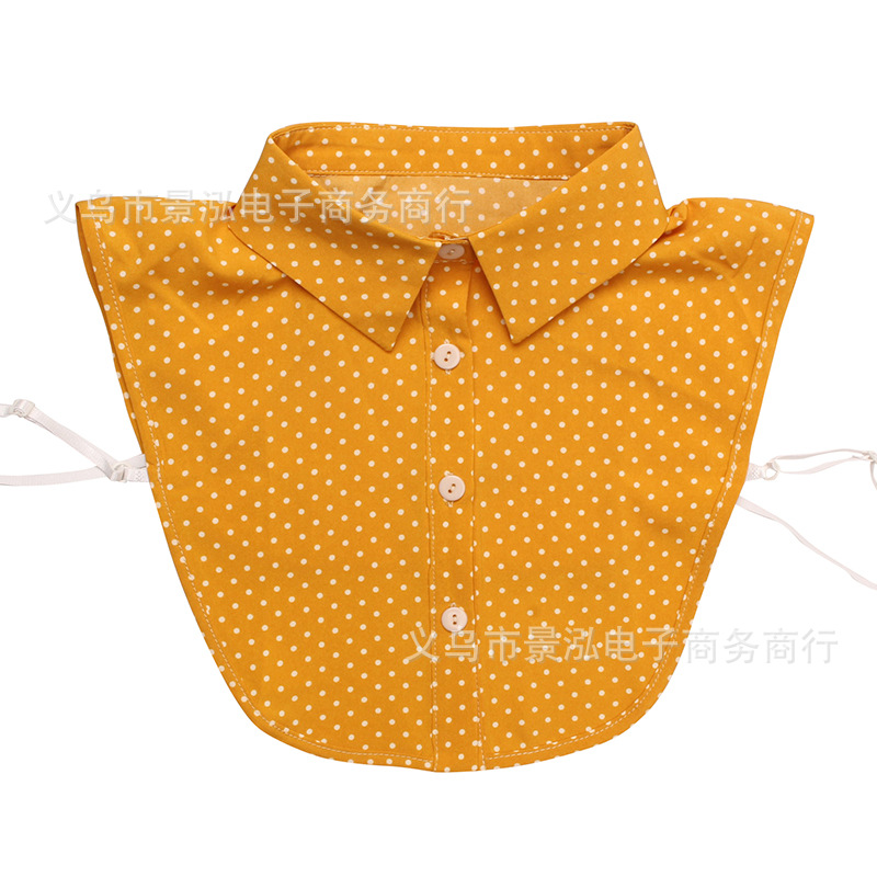 Small Round Dotted Monochrome False Collar Popular Pattern All Seasons Small Clothes Shirt Collar