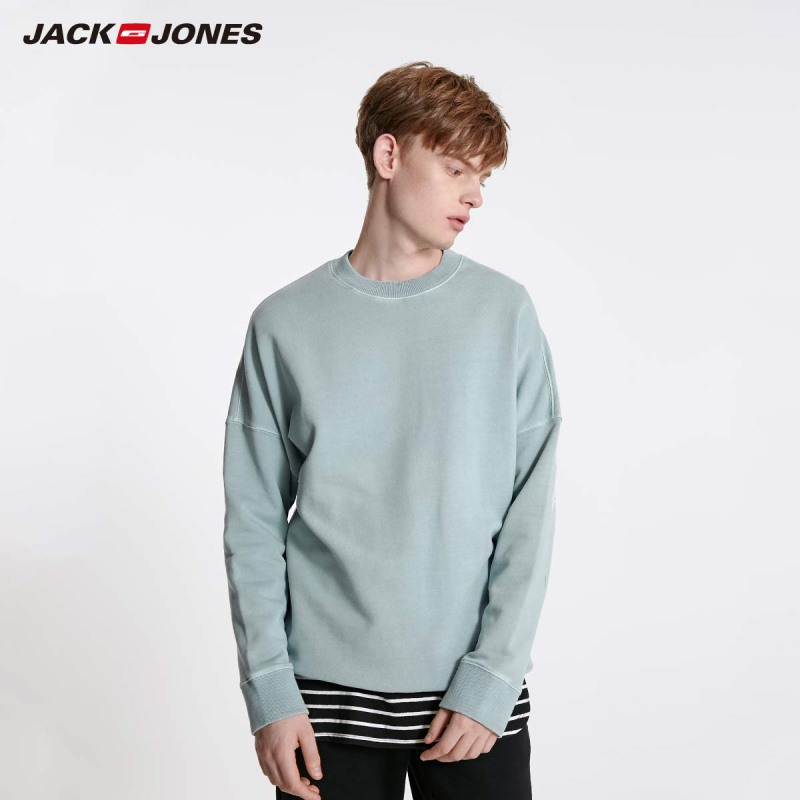 JackJones Men's Colorful Comfortable Fabric Crew Neck Basic Sweatshirt 219133505