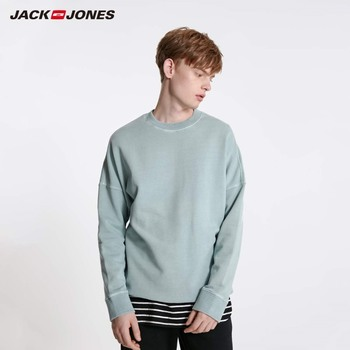 JackJones Men's Colorful Comfortable Fabric Crew Neck Basic Sweatshirt 219133505 crew neck crop sweatshirt