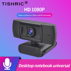 TISHRIC USB Webcam 1080P HD PC Web Camera With Microphone USB Camera for Computer Webcamera Full HD Video ashu Web Cam