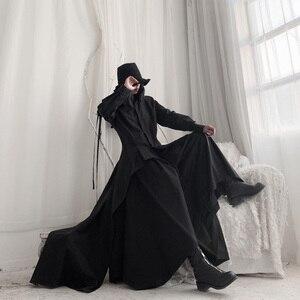 Image 2 - [Eam] 女性黒非対称リボンブラウス新ラペル長袖ルーズフィットシャツファッションタイド春秋2020 19A a544