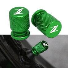 Motorcycle Tire Valve Air Port Stem Cover Cap Plug CNC Aluminum Accessories For Kawasaki Z400 Z800 Z900 Z650 Z1000 Universal