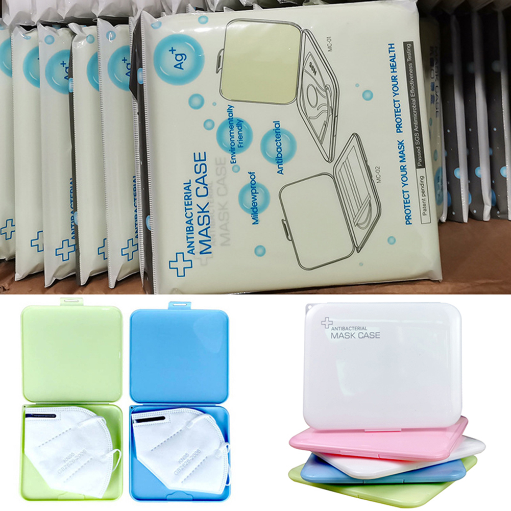 Portable Anti-dust Dampproof Disposable Mask Holder Container Organizer KN95 Face Mask Temporary Storage Packaging Box(China)