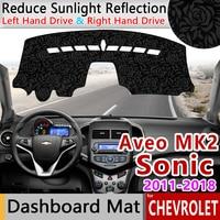 for Chevrolet Sonic AVEO 2011~2018 Holden Barina Anti Slip Mat Rose Pattern Dashmat Dashboard Cover Accessories 2012 2013 2014