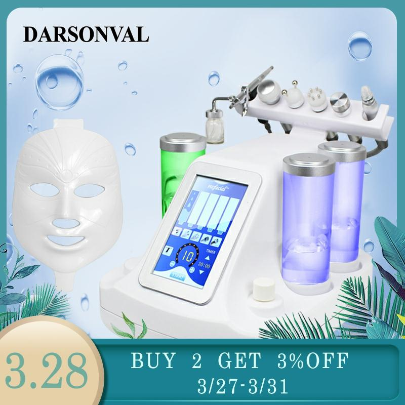 DARSONVAL Hydra Facial 6 In 1/7 In 1 Small Bubbles Skin Care Device Ultrasonic RF Deep Pore Clean Facial Massage Machine