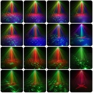 Image 3 - 미니 RGB 디스코 조명 효과 LED 무대 레이저 프로젝터 레드 블루 그린 램프 USB 충전식 웨딩 생일 파티 라이트