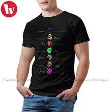 Camiseta con estampado de Seven Deadly Sins para hombre, de talla grande Camisa de algodón, divertida, de manga corta para playa
