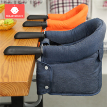 Portable Baby Highchair Foldable Feeding Chair Seat Booster Safety Belt Dining Hook-on Chair Harness Lunch Cushion baby dining chair safety belt cover children high chairs foldable portable seat lunch kids chair eat table feeding highchair