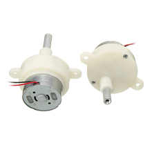 2 pcs DC Metal Geared Box Motors 3-12V 16RPM Worm Motor Reduction Gear Motor Electric Gear Box Reduction Motor 12v 45rpm electric metal reversible worm geared dc motor 6mm d shaped shaft high torque turbine worm gear box reduction motor