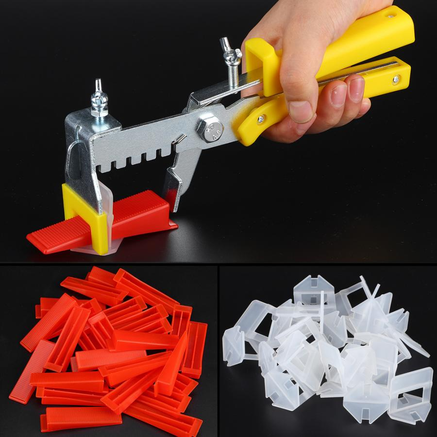 Floor Wall Plastic Tile Leveling System Tools 500 X Clips + 200 X Wedges + 1 X Pliers Tile Level Wedge