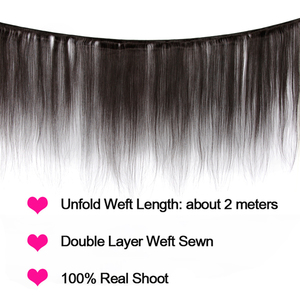 Image 2 - MIHAIR Straight Hair Bundles With Closure Indian Remy Human Hair Bundles With 4*4 Lace Closure Double Weft Bundles With Closure