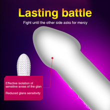 New Reusable Delay Condoms Thorn Penis Sleeve Cock Extender For Men Adult Penis Enlargement Particles G-spot Condom Sex Toys