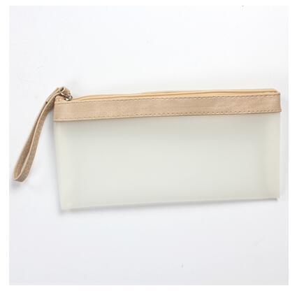 Simple Hold PU Pencil Case Stationery Storage Organizer Bag School Office Supply