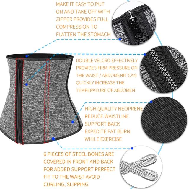 Men Waist Trainer Slimming Body Shaper Modeling Belt Weight Loss Shapewear Belly Shapers Sweat Trimmer Belt Reducing Slim Girdle 3