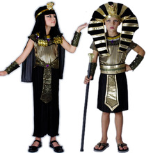 Halloween costume boy Egyptian pharaoh prince princess costume for children cosplay clothes