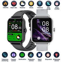 Relógio inteligente 1.69 Polegada esporte pedômetro smartwatch homem mulher sono temperatura do corpo monitor de freqüência cardíaca relógios para ios android