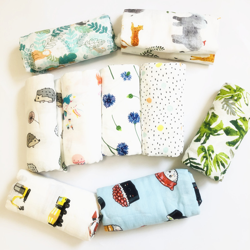 Baby Muslin Blanket Swaddle Bamboo Cotton Newborn Baby Bath Towel Swaddle Blankets Comfortable MultiFunctions Baby Wrap in Blanket Swaddling from Mother Kids