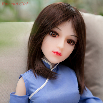 Japanese silicone sex doll 65cm lifelike love doll  artificial vagina real pussy adult small breast sex doll