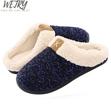 2019 Womens Fur Slippers Winter Shoes Big Size Home Slippers Plush Pantufa Women Indoor Warm Fluffy Terlik Cotton Shoes(China)