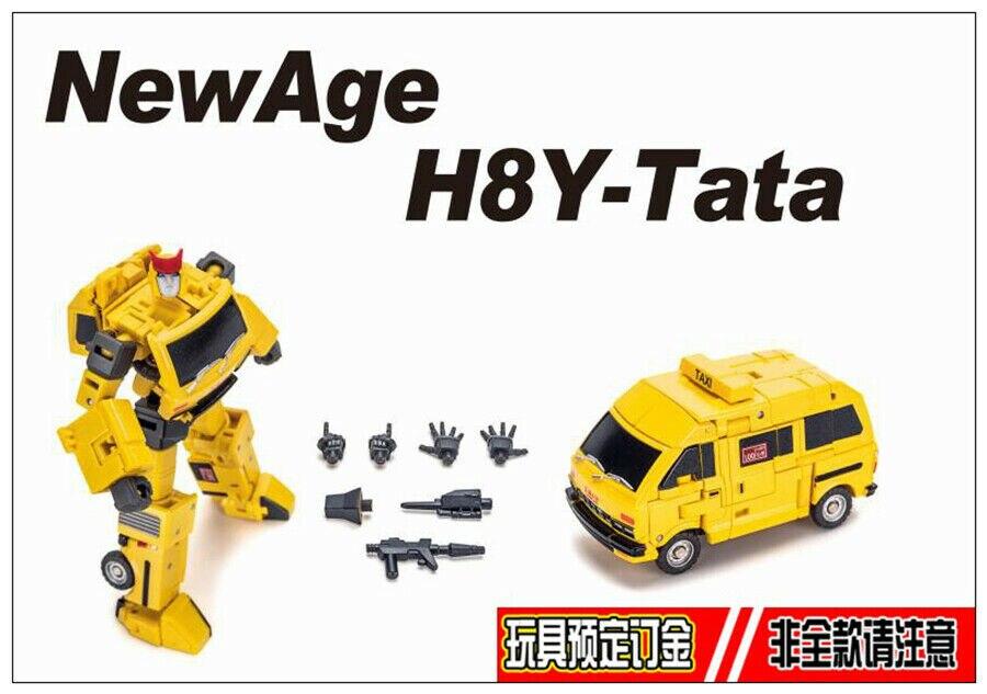Robot de Transformation jouet Newage NA H8Y Tata mini cliquet jaune Ver.