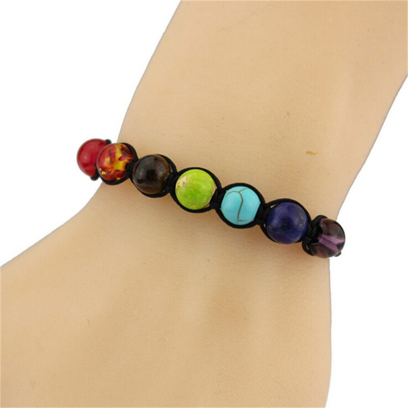 7 Chakra Bracelet Men Healing Balance Beads 8mm Reiki Prayer Natural Stone Yoga Bracelet For Women in Strand Bracelets from Jewelry Accessories