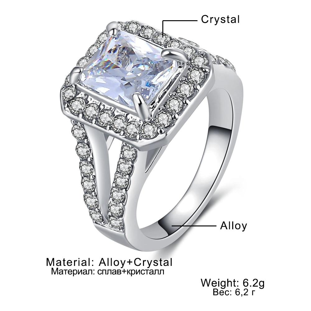 Luxury Zircon Engagement Ring CLOVER JEWELLERY