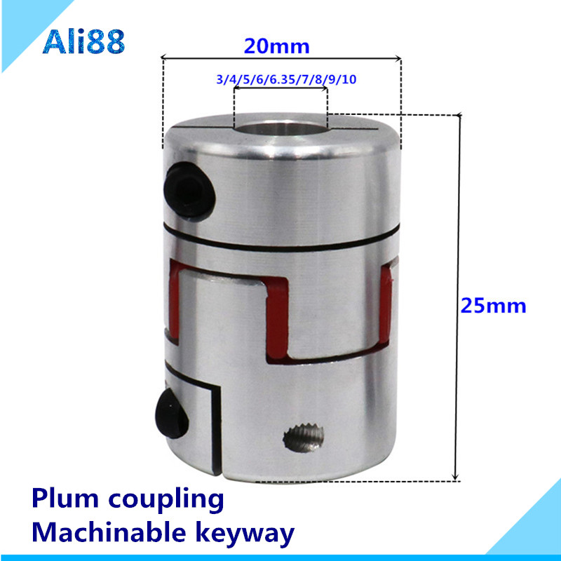 5mm x 12mm Flexible Ballscrew Shaft Coupler Coupling Linear Motion CNC 3D Nema17
