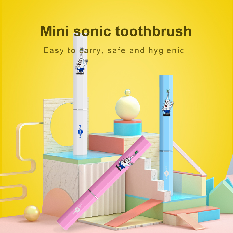 High Frequency Vibration Ultrasonic Electric Toothbrush With Replaceable Brush Head For Mini Electric Toothbrush Oral Care