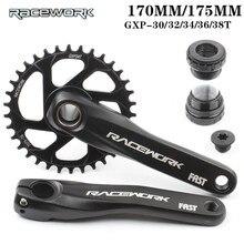 Mechanizm korbowy RACEWORK 170MM 175MM łańcuch rowerowy 30T 32T 34T 36T 38T wąski szeroki rower MTB korona dla SRAM SHIMANO Deore